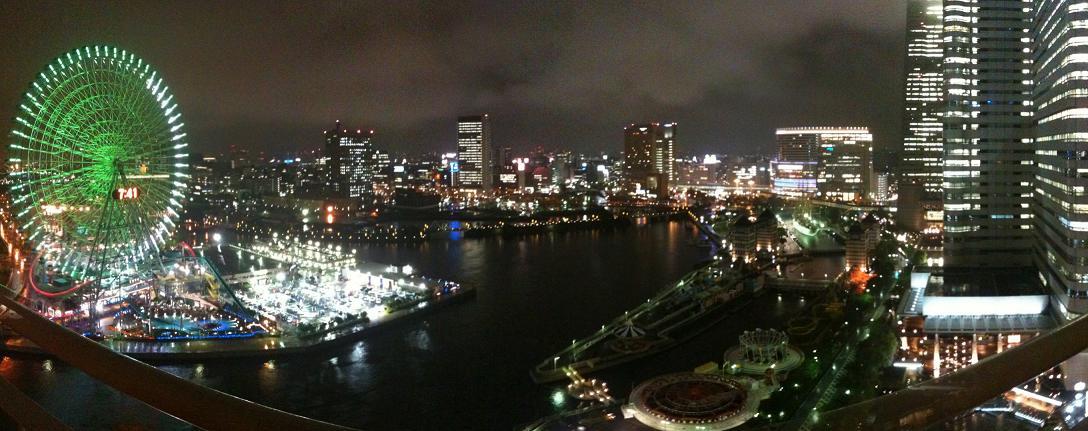 Panorama bild från balkongen